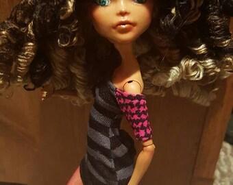 OOAK Cleo DeNile Monster High Repaint Curls Sassy RAWR Custom Handmade Face-up