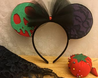 Snow White Ears, Evil Queen Ears, Minnie Ears, Mickey Ears, Disney Ears, Mouse Ears, Gift for Her, Gift for Mom