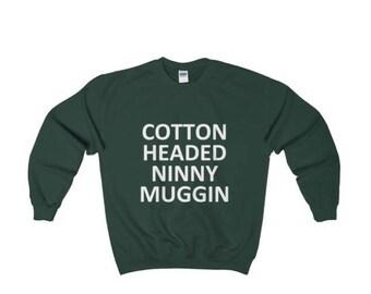 Cotton Headed Ninny Muggin Elf Ugly Christmas  Heavy Crewneck Sweater (4 Colours)