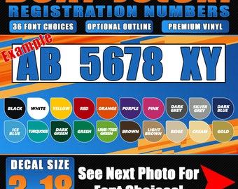 Boat Registration Etsy - Custom vinyl decal stickers for boats