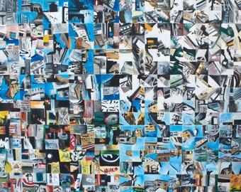 Original Oil Painting, Provence, Contemporary Art, Abstract Art, Urban Landscape, Wall Art