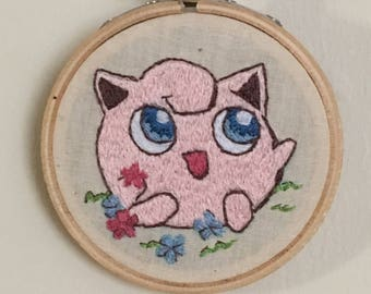 Jigglypuff 3in Embroidered Wall Art