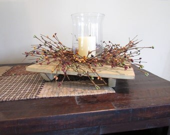Riser Centerpiece With Candle