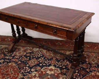 Table bureau en boispatine et pochoirs - Bureau d etude en anglais ...