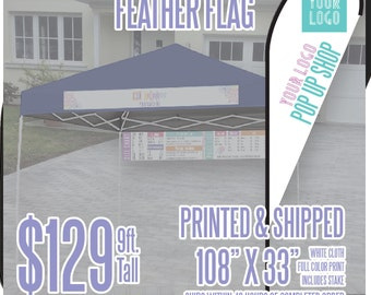 LLR Feather Flag - White 9ft. *Includes Ground Stake