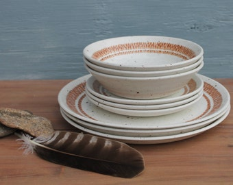 Bilton's Ironstone Plates and Bowls--Set of 9