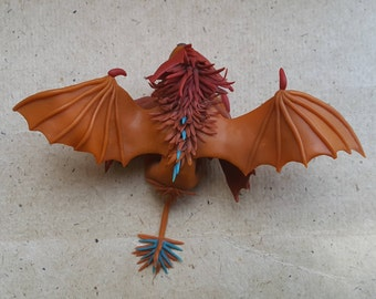 Cloudjumper Stormcutter How to Train your Dragon Lionization Little Lion Friend polymer clay sculpture Miniature Toothless Stormfly