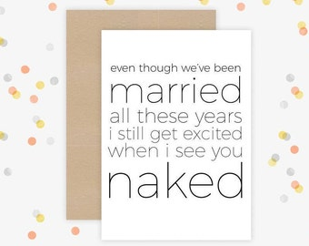 Anniversary Card, Funny Anniversary Card, Husband Card, Wife Card, Funny Wife Card, Funny Husband Card, Valentines Day Card, Funny Card
