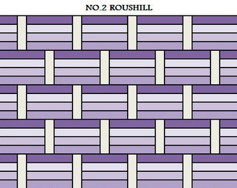PDF Lap Quilt PATTERN....Quick and Easy...Jelly Roll friendly...'No.2 ROUSHILL' ... Instant download