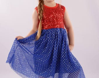sparkly festive dress with tulle bottom piece.