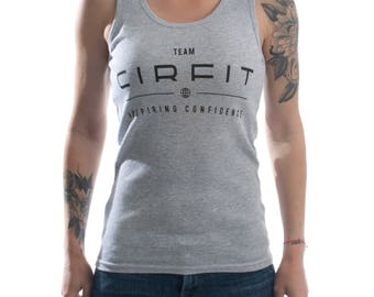 Women's CIRFIT Team Tank - Gray/Black