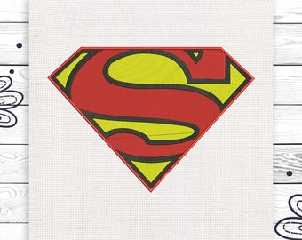 Superman embroidery Kids embroidery scheme Machine embroidery design in 4 sizes Superman INSTANT DOWNLOAD EE5215