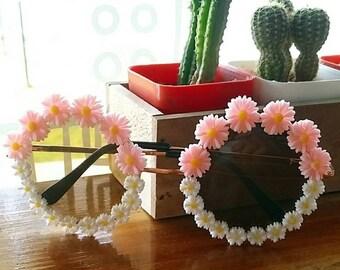 Cute Flower Sunglasses, Embellished Sunglasses, Summer Sunglasses, Floral Sunglasses, festival sunglasses, rainbow sunglasses