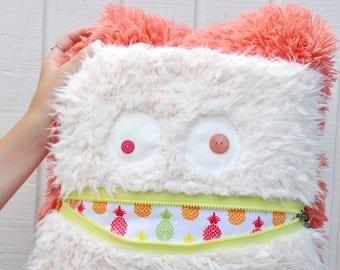 Pineapple Monster Pillow & Blanket