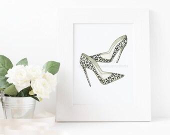 Leopard heels (print)