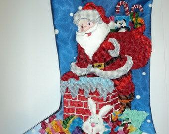 Christmas stocking New Year's stocking Embroidered stocking Christmas embroidery Christmas decor New Year's gift Gift for kids Handmade