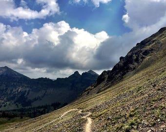 Montana Landscape, Mountain Photo, Nature Photography, Rustic Wall Art