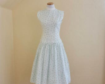 1950's Teena Paige hats and hearts novelty print dress