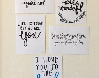 Handwritten Cards (Set of 5)