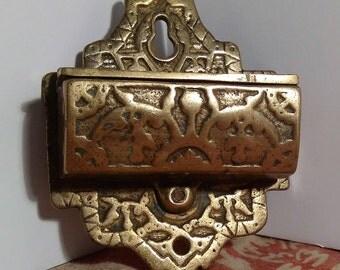 Solid Brass Wall Mount Match Safe