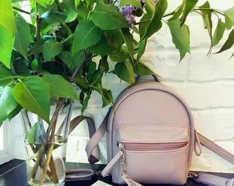 Faux Leather Backpack, Mini Backpack, Vegan Leather Backpack, Mini Vegan Leather City Backpack, Vegan Leather Backpack Purse, Small Backpack