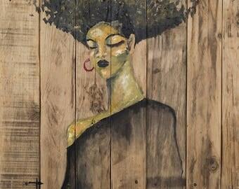 Woman Reflection, Print on Canvas, Art Collectibles, Art Gift, Colorful Art, Wall Decor, Wall Art, Digital Prints, Art Print