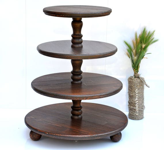 how to make a wedding cake stand out of wood