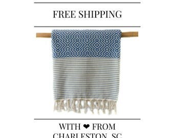 30% Off OTIS Blue Turkish Towel Peshtemal (This offer is available for 3 sets only until July 24 17:00)