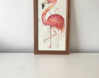 Original Flamingo Artwork - Watercolour