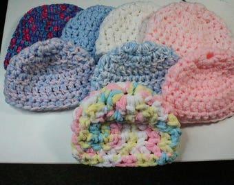 Crochet Baby Beanies 0-3 Months