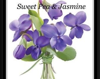 Sweet Pea & Jasmine Soy Wax Melts - Hand poured in Brisbane.