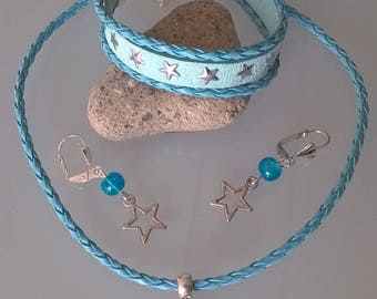 Girls turquoise star ornament