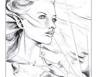 "Illustration ""Light in the wind"""