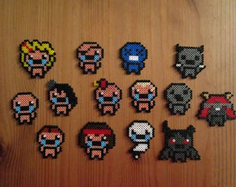 Pixel Art/beading - {Binding of Isaac Rebirth} - characters Jouables