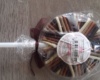 Lovely Brown lollipop hair ties