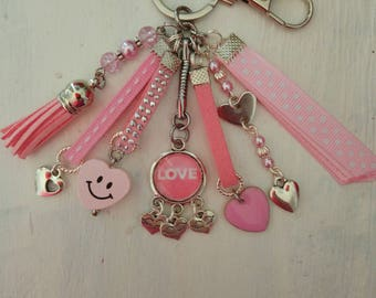 Valentine theme Keyring or bag charm