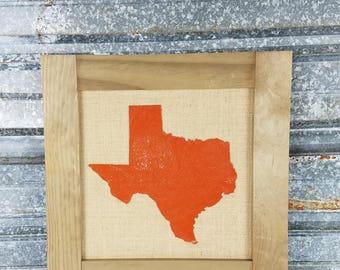 UpCycled Texas Cork Bulletin Board