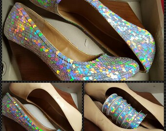 Custom Sequin Shoes for Wedding, Prom, Drag, Formal Occasions, or For Fun (Adult/Children/Trim)!