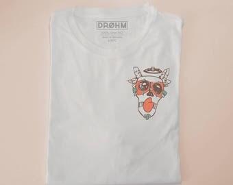 Maskof - White T-shirt 100% cotton organic