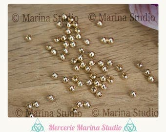 Pearls gold plated 18K - 18 k 2 mm