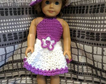 "18"" Doll Dress and Accessories/American Girl Doll Dress and Accessories/Doll Dress/Doll Hat/Doll Shoes/Ready To Ship"