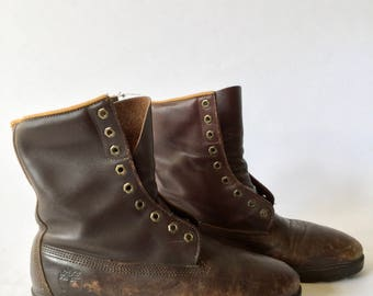 Vintage [Men Size --] Brown Leather lace up workwear TImberland USA boots