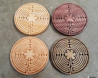 Chartres Labyrinth Coasters