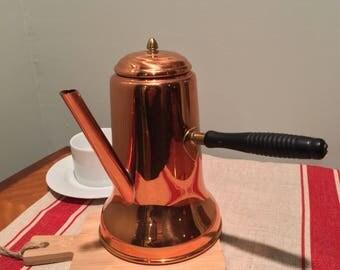 Vintage Coppercraft Guild Turkish Coffee Pot Copper Coffee Pot Vintage Copper Cookware