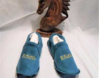 Washable fleece booties ENZO t 42/44 made 100% in France