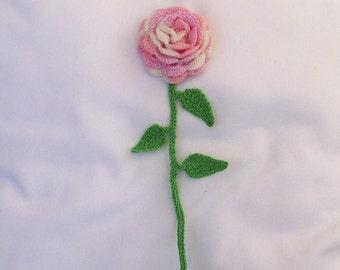 flower on stem crochet entirely handmade