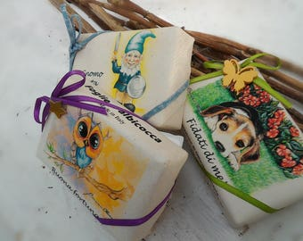 TRIS handmade soap packaging mix