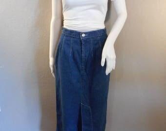Calvin Klein jean skirt/ waist 26/maxi skirt