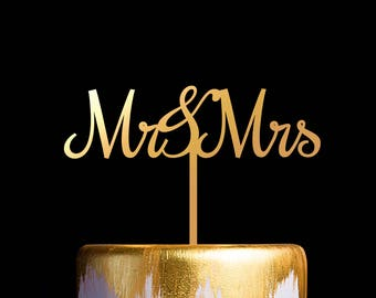 Mr and Mrs Wedding Cake Topper, Cake Topper for Wedding and Anniversary