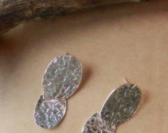 Multi-oval post earrings in Sterling Silver
